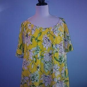 Signature Collection Size 2x Plus Floral Dress